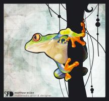 red eyed tree frog, just frog by SquareFrogDesigns