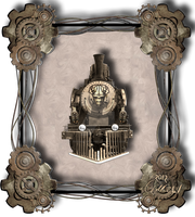 Steampunk Locomotive 001 by Travail-de-lame