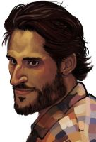 Alcide from True Blood by juliakrase