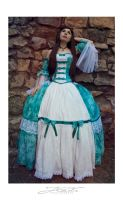 turquise dress by Daraya-crafts