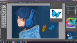 WIP: Trying to Paint Butterflies on Krita by kaisaki1342
