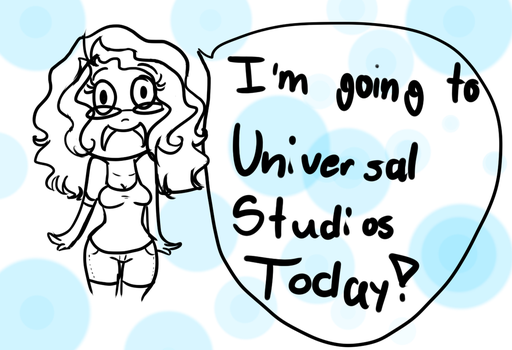 Going to Universal Studios by animeloverMF