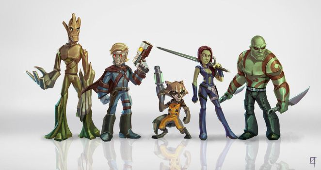 Guardians of the Galaxy by OmenD4