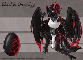 Blood and Onyx Egg - Adoptable by Ulario