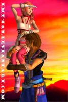 Serah and Noel - Found it! by Emy-san