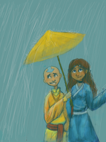 Avatar: Rainy Day -tegaki- by schellibie