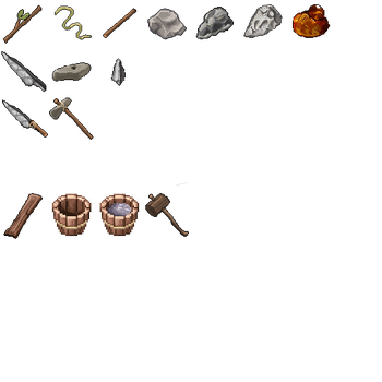 [Terasology] Wood And Stone Items - 64x64 by itsazebra
