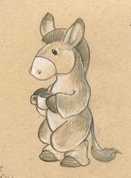 Donkey with Coffee by ursulav