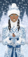 Korra is a russian Snow Maiden in New Year by oBOXPOH
