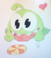 Om Nom ( Cut The Rope ) by NaroKusanagi
