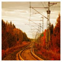 Autumn Rails by wchild