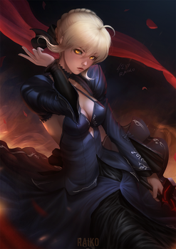 FateGO: Saber Alter by raikoart
