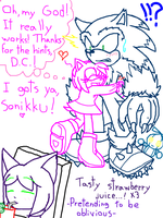 D.C. gives Amy some hints by DarkCream