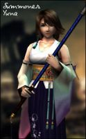 Dissidia 012 Summoner Yuna by raidergale