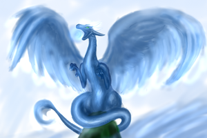 the ying lung of water by Lena-Lucia-dragon