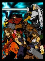 Final Fantasy 7 Cast - Flats by Deathring2000