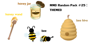 Random Pack 25 : THEMED (bees and honey) by Tehrainbowllama