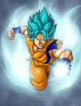 Goku SSGSS Time-lapse Part 2 by Axel2396