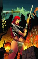 Red Sonja 59 cover color by wgpencil