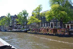 the channels of Amsterdam by Silbermannandson
