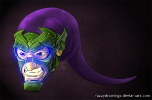 Green Goblin Concept 1 by FuzzyDrawings
