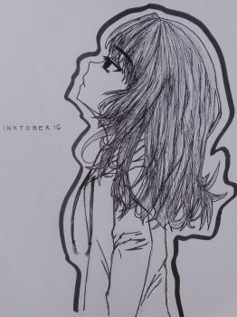 Inktober #16: A Girl by Skottanze