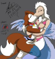 Colleen and Teryx (collab-com with greatnixfox) by Snowfyre