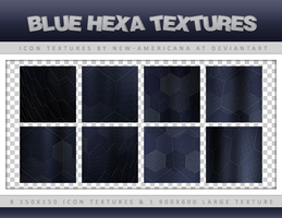 Blue Hexa Icon Textures by new-americana