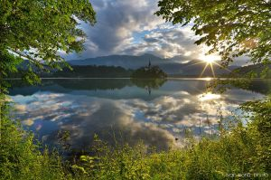 Sunrise on Bled by ivancoric