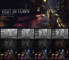 VISIT IN TOWN making of by Byzwa-Dher