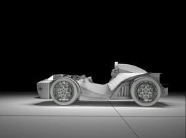 KTM X Bow wireframe by vanloon3d