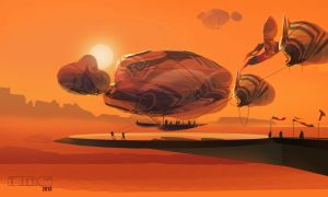 Nomad Desert Blimp by TK769