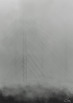 Radio Towers in the Mist by temary44