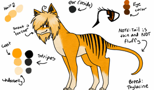 Thylacine Adoptable ~CLOSED~ by sharktaiIs