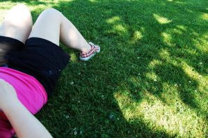 Lying in the grass by Annierl