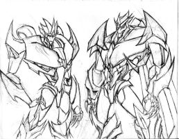 TFP ocs - Hellfire and Wrathblade by winddragon24