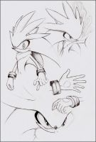 Practice - Silver the Hedgehog by goldhedgehog