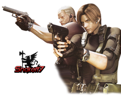 Leon and Krauser - Render 1 by snakeff7