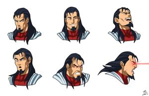 Steelwolf Expression Sheet Commission by phil-cho