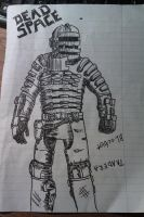 Quick Dead Space Sketch by xXxSp4rtyxXx