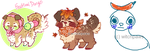 my sushi dogs! n v n by sparrowkeets