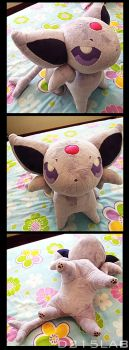 Espeon plush by d215lab