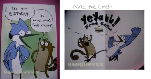 Regular Show Birthday Card by UsagiLovex