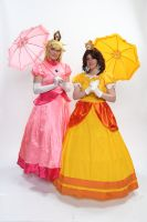 Peach and Daisy 1 'Naka-Kon 2013' by MissLink8908