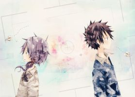 Kei+Rin :: Paper Messages by angel-cesia