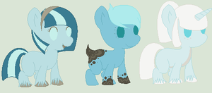 Shiver and SnowPuff Foals- One Left by PyscoSnowflake