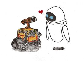 WallE and Eve by Jamin95