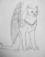 Winged Egyptian Cat by BlueMoon30