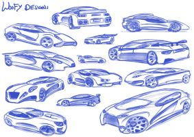 Car Sketches 07 by WoofyDesigns