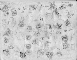 100 heads and poses P26 by Redfoxbennaton